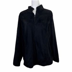 Made For Life Black Fleece Full Zip Jacket Size 2X
